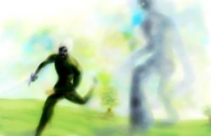Kautoren Vs The Colossus / illustration ©2012 w.m.ley